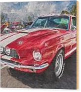 1967 Ford Shelby Mustang Gt500 Painted  Wood Print