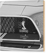 1968 Ford Mustang 427 Ci Fastback Grille Emblem Wood Print