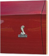 1968 Shelby Gt350 Side Emblem Wood Print