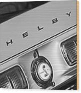 1968 Shelby Gt500 Kr Fastback Rear Emblem - Taillights Wood Print