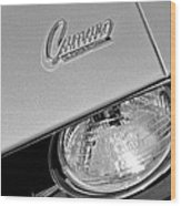 1969 Chevrolet Camaro Headlight Emblem Wood Print