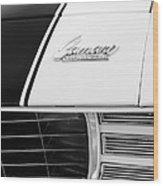 1969 Chevrolet Camaro Rs-ss Indy Pace Car Replica Hood Emblem Wood Print by Jill Reger