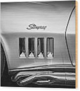 1969 Chevrolet Corvette 427 Bw Wood Print