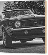 1969 Chevy Camaro Ss Wood Print