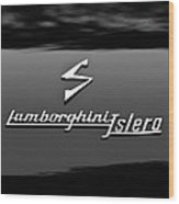 1969 Lamborghini Islero Emblem Wood Print