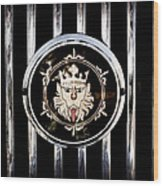 1969 Morgan Roadster Grille Emblem Wood Print
