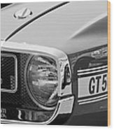 1969 Shelby Gt500 Convertible 428 Cobra Jet Grille Emblem Wood Print by Jill Reger