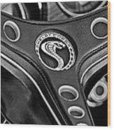 1969 Shelby Gt500 Convertible 428 Cobra Jet Steering Wheel Emblem Wood Print