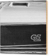 1970 Buick Gs Grille Emblem Wood Print
