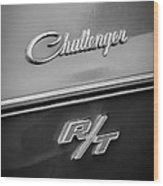 1970 Dodge Challenger Rt Convertible Emblem Wood Print