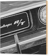 1970 Dodge Challenger Rt Convertible Grille Emblem Wood Print by Jill Reger