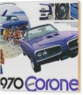 1970 Dodge Coronet Super Bee Wood Print