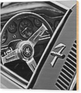 1971 Iso Grifo Can Am Steering Wheel Emblem Wood Print