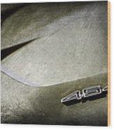 1972 Chevrolet Corvette Convertible Stingray 454 Hood Emblem Wood Print