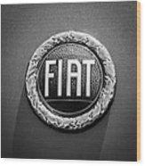 1972 Fiat Dino Spider Emblem Wood Print