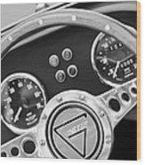 1972 Ginetta Steering Wheel Emblem Wood Print