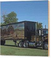 Smokey And The Bandit Tribute 1973 Kenworth W900 Black And Gold Semi Truck Wood Print