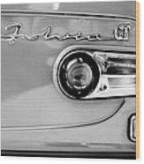 1975 Lancia Fulvia 1.3s Gt Berlina Taillight Emblem Wood Print