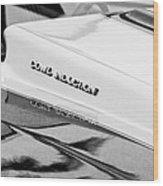 1980 Chevrolet Malibu Ss Cowl Induction Hood Emblem Wood Print