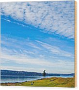 #2 At Chambers Bay Golf Course - Location Of The 2015 U.s. Open Tournament Wood Print