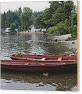 2 Little Boats Wood Print