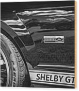2007 Ford Mustang Shelby Gt500 Painted Bw  Wood Print