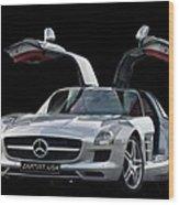 Mercedes Benz S L S  Gull-wing Wood Print