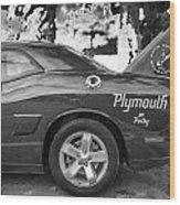 2010 Plymouth Superbird Bw  Wood Print