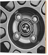 2013 Fiat Abarth Wheel Emblem Wood Print