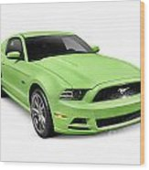 2013 Ford Mustang Gt 5.0 Sports Car Wood Print