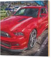 2013 Ford Mustang Gt Cs Painted  Wood Print