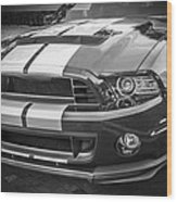 2013 Ford Mustang Shelby Gt 500 Bw Wood Print
