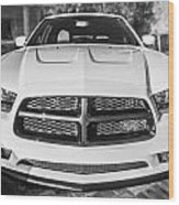 2014 Dodge Charger Rt Painted Bw Wood Print