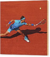 2015 French Open - Day Nine Wood Print