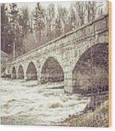 5 Span Bridge Wood Print