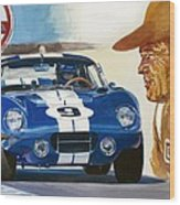 64 Cobra Daytona Coupe Wood Print