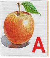 A Art Alphabet For Kids Room Wood Print