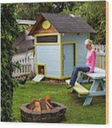 A Backyard Chicken Coop In Bellingham Wood Print