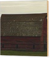 A Barn In Saskatchewan Wood Print