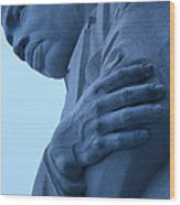 A Blue Martin Luther King - 2 Wood Print