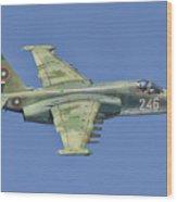A Bulgarian Air Force Su-25 In Flight Wood Print