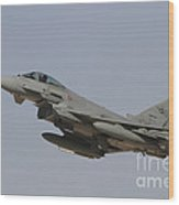 A Eurofighter Typhoon Of The Italian Wood Print