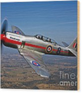 A Hawker Sea Fury T.mk.20 Dreadnought Wood Print
