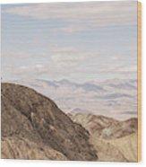 A Hiker Stands On A Peak Wood Print