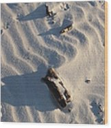 A Line In The Sand Wood Print