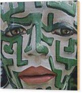 A Maze Ing Face 2 Wood Print
