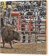 A Night At The Rodeo V6 Wood Print
