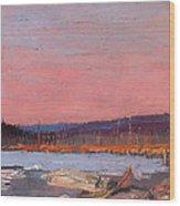 A Northern Lake Wood Print