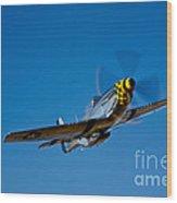 A P-51d Mustang Kimberly Kaye In Flight Wood Print
