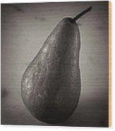 A Pear At An Angle Wood Print